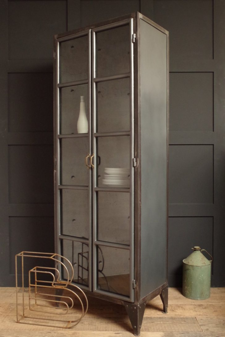 Tall Black Cabinet with Doors 2020