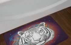 Wildlife Bathroom Decor Unique Ambesonne Animal Bath Mat Wildlife Theme Modern Image A White Tiger Lion Head From Outer Space Plush Bathroom Decor Mat With Non Slip Backing