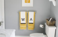 Yellow And Grey Bathroom Decor Elegant Gray White And Yellow Color Scheme In This Modern Family