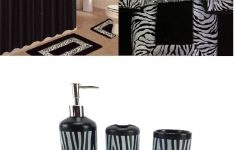 Zebra Bathroom Decor Beautiful Ahf Wpm 19 Piece Bath Accessory Set Black Zebra Animal Print Bath Rug Set Black Zebra Shower Curtain & Accessories