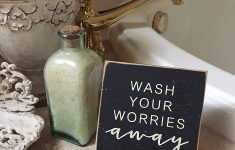 Bathroom Decor Signs Awesome Amazon Bathroom Small Sign Wash Your Worries Away