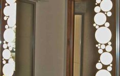 Bathroom Decorative Mirror Inspirational Mirror Geometric Border Circles Bubbles 2