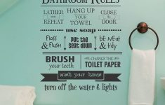 Bathroom Wall Decor Stickers New Modern Kids Bathroom Rules Reminder Wall Decal With