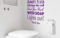 Bathroom Wall Decor Stickers New Rules Of The Loo Bathroom Rules Wall Sticker Toilet
