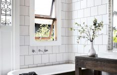 Black And White Tile Bathroom Decorating Ideas Luxury Small White And Black Bathroom With A Patterned Tile Floor