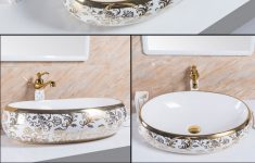 Decorative Bathroom Sink Lovely Vitreous Manufacturer7680gp Bathroom Oval Above Vanity Sink With Gold Decorative View Oval Basin Pate Product Details From Foshan Pate Sanitary Ware