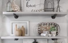 How To Decorate Bathroom Shelves Awesome How To Style Bathroom Shelves Farmhouse Shelf Decor Diy