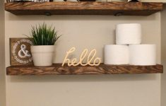 How To Decorate Bathroom Shelves Beautiful Diy Faux Floating Shelves