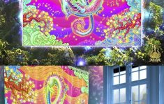 Music Bathroom Decor Unique Psychedelic Party Shower Curtain Rave & Trance Music Psy