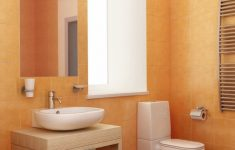 Orange Bathroom Decorating Ideas Awesome Brown And Orange Colors With Single Vanity