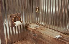 Outhouse Decorations For Bathroom Beautiful Outhouse Inspired Toilet Cover Rustic Look In Potty Room