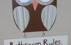 Owl Decor For Bathroom Fresh Owl Bathroom Decor Wooden Owl Bathroom Rules Sign By