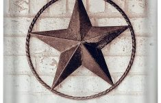 Rustic Star Bathroom Decor Beautiful Lb Vintage Texas Star Rustic Painted Brick Wall Shower Curtain Set American West Theme Bathroom Decor 70x70 Shower Curtain Waterproof