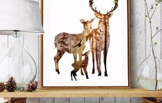 Animal Bathroom Decor Unique Nordic Forest Nature Animals Wall Art Canvas Paintings Modern Colorful Natural For Living Room Bathroom Decor
