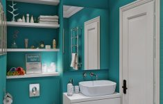 Brown And Turquoise Bathroom Decor Awesome The Bathroom Is Beautiful In A Bright And Boisterous Teal