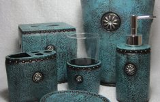 Brown And Turquoise Bathroom Decor Best Of Amazon Western Turquoise Rhinestone Concho Bathroom