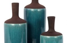 Brown And Turquoise Bathroom Decor Unique Turquoise & Brown Vase Set