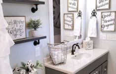 Decorating Ideas For Master Bathrooms New 50 Rustic Farmhouse Master Bathroom Remodel Ideas 47