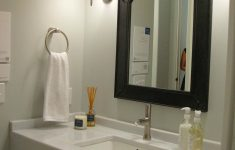 Decorative Mirrors for Bathroom Vanity New Bathroom Brown Framed Mirror with Side Lighting for Bathroom
