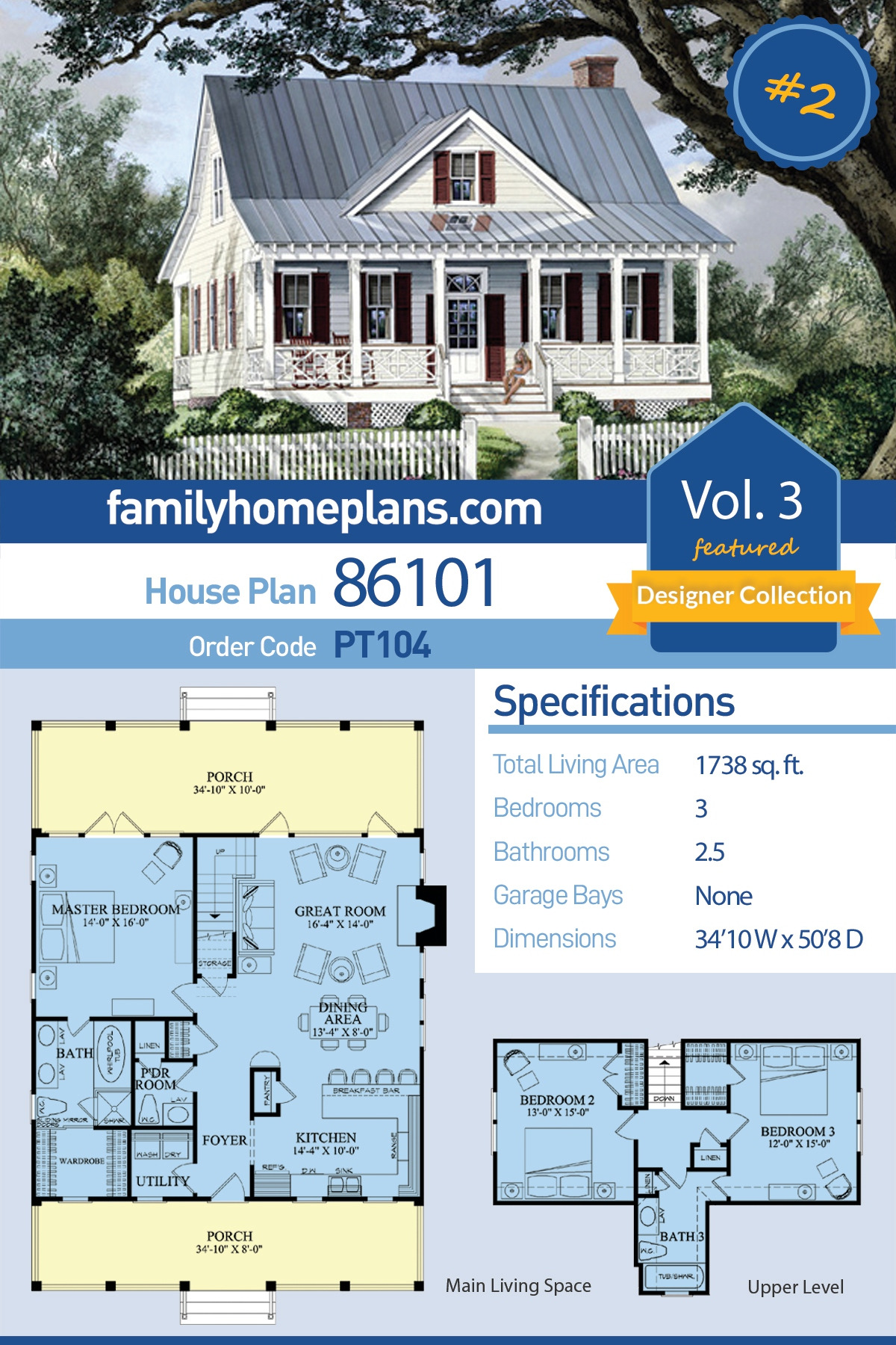 1000 Sq Ft House Construction Cost Lovely southern Style House Plan with 3 Bed 3 Bath