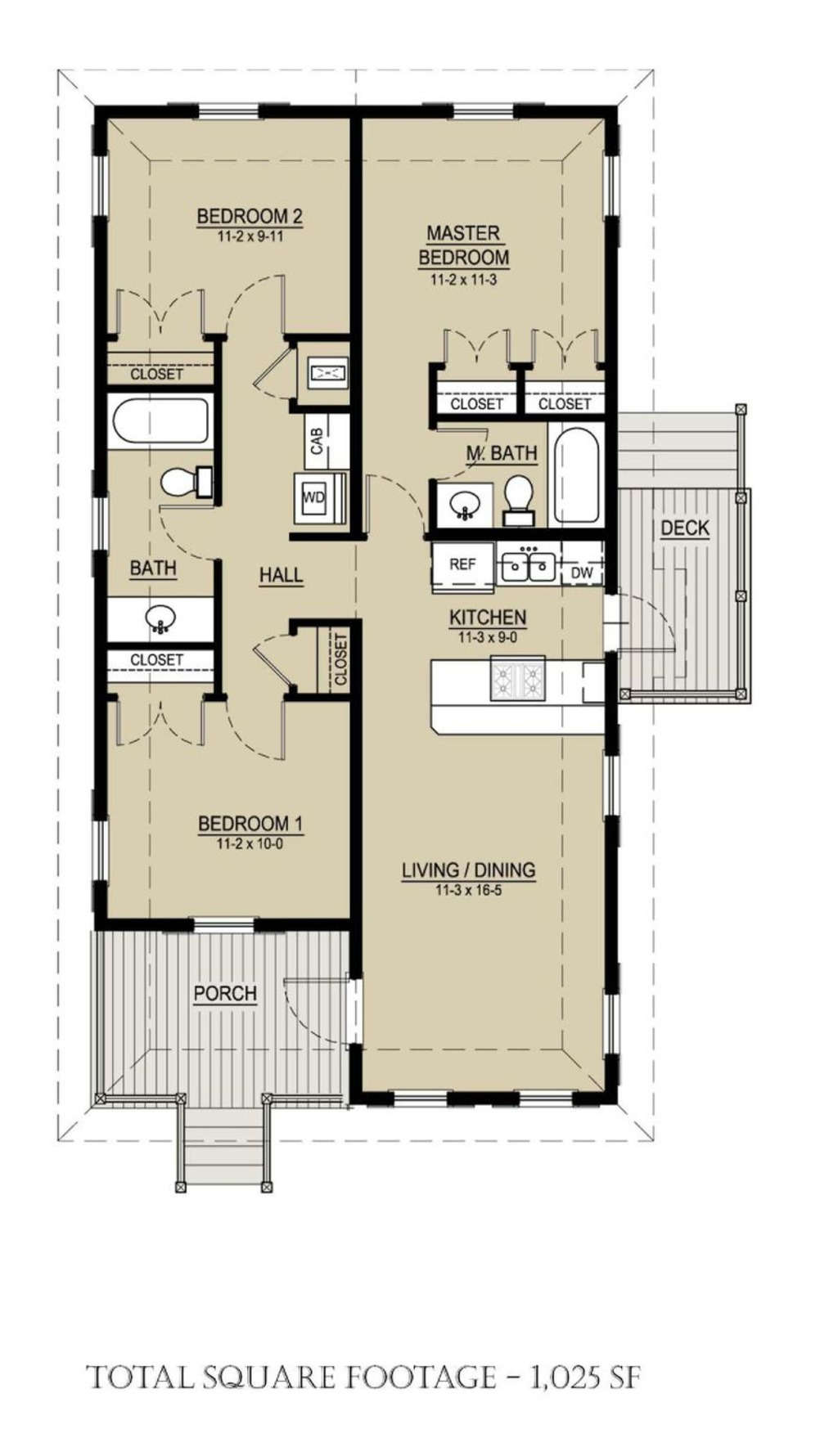 1000 Square Feet House Cost Beautiful Cottage Style House Plan 3 Beds 2 Baths 1025 Sq Ft Plan 536 3