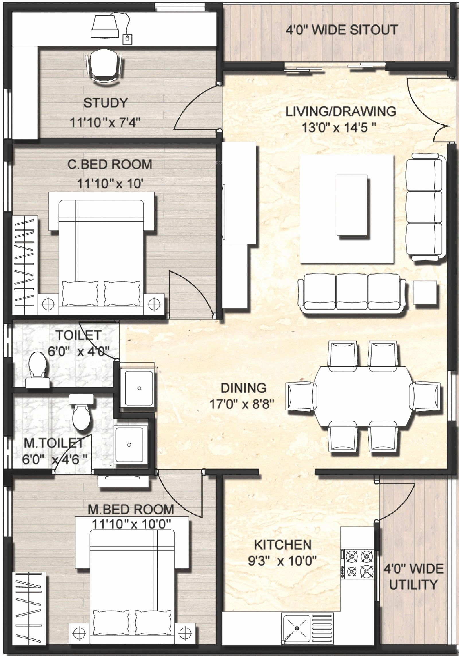 1000 Square Feet House Cost Fresh 900 Sq Ft Duplex House Plans Google Search with Images