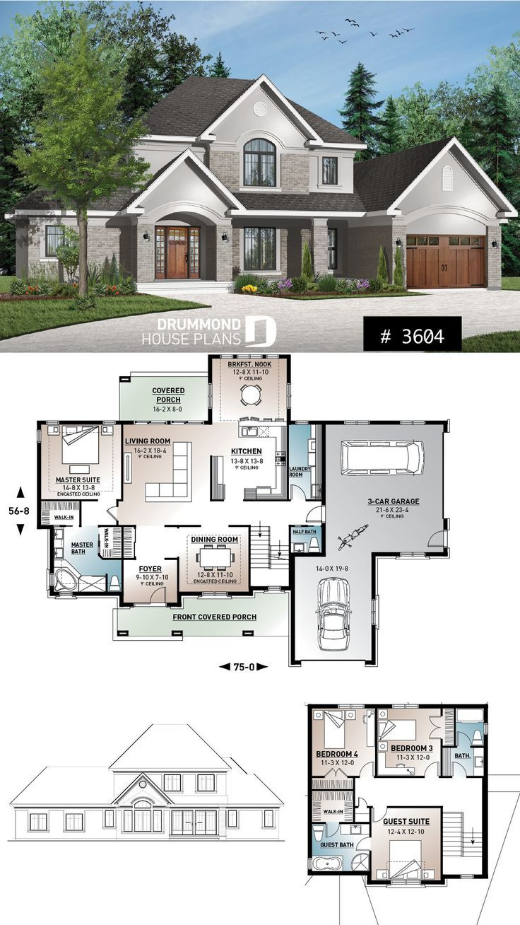 2 Bedroom House Plans with 2 Master Suites Best Of House Plan with 2 Master Suites 3 Car Garage for