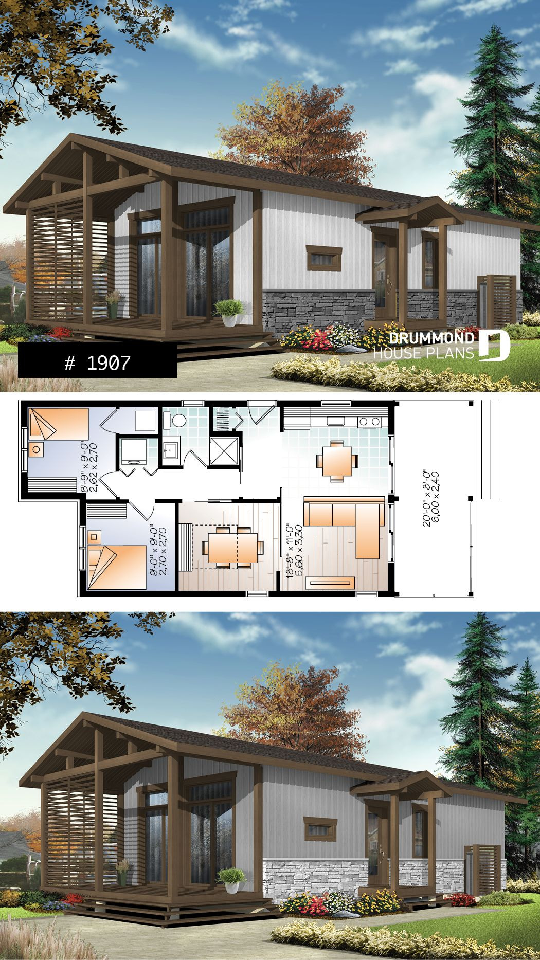 700 Sq Ft House Plans Luxury Modern Rustic 700 Sq Ft Tiny Small House Plan Very