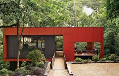 Affordable Concrete House Plans Awesome Simple Rectangle Box Red Painted Fiber Reinforced Concrete