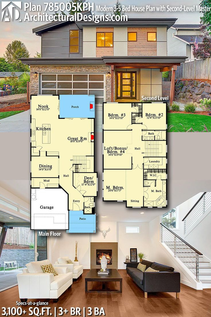 modern house plans architectural designs home plan kph gives you 3 bedrooms 3 baths and 31