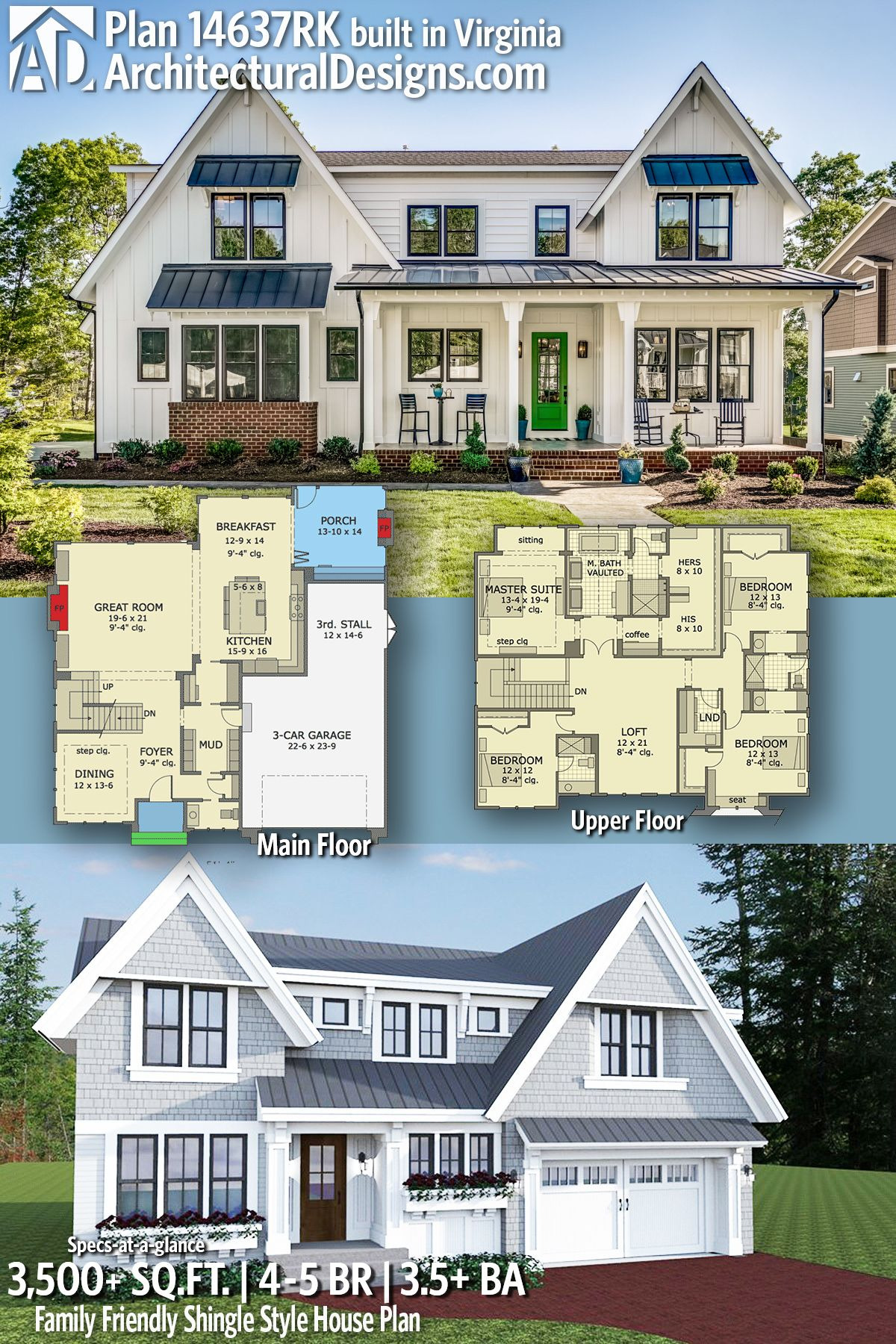 Architectural Design House Plans Awesome Plan Rk Family Friendly Shingle Style House Plan