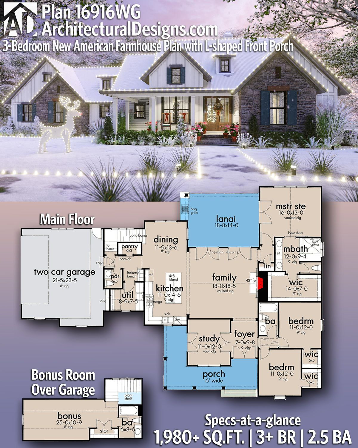 Architectural Design House Plans Beautiful Architectural Designs Selling Quality House Plans for Over