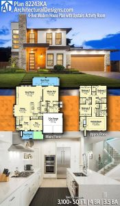 Architectural Design House Plans Lovely Plan Ka Modern House Plan With Upstairs Activity Room