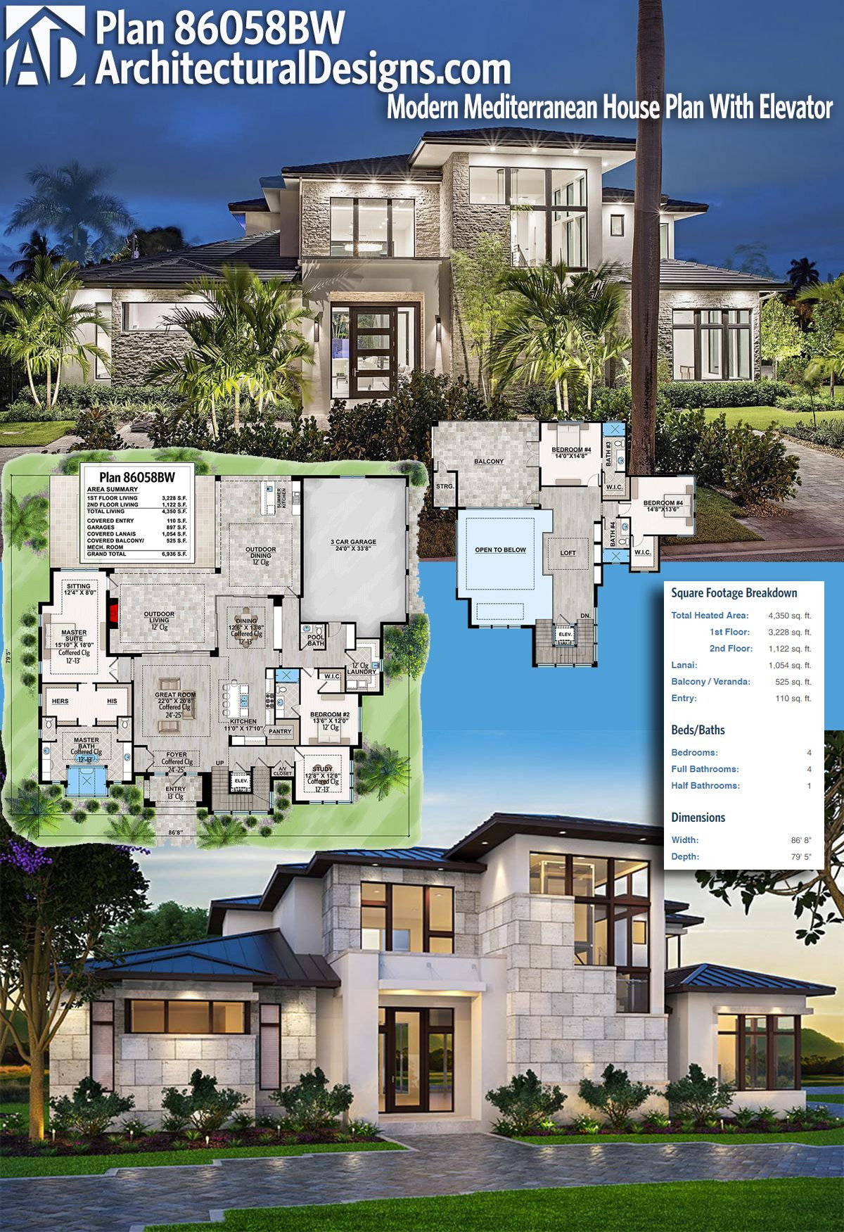 Architectural Design House Plans Unique Plan Bw Well Planned Contemporary Home