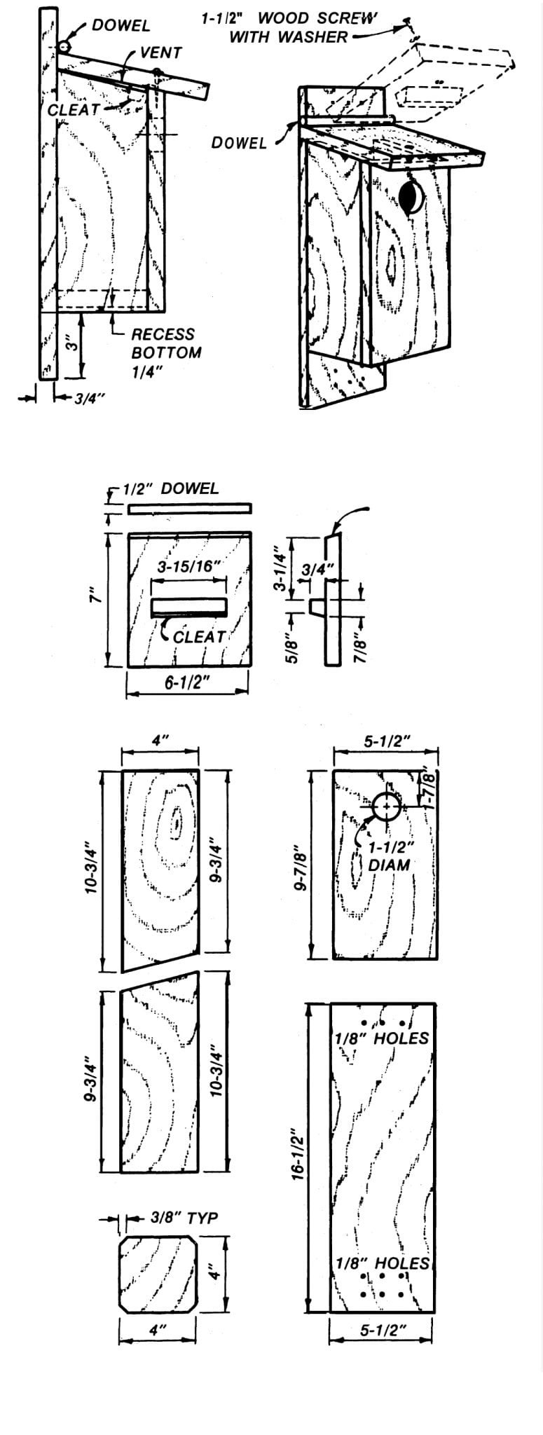 Blue Bird House Plans Beautiful Bird Houses for songbirds Alabama Cooperative Extension System