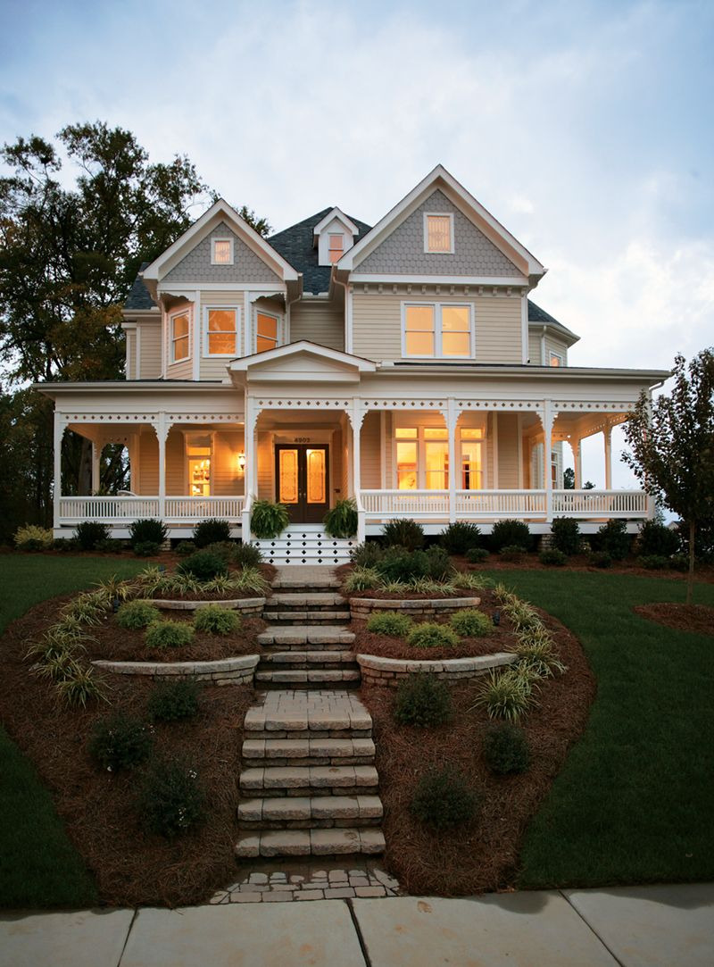 Victorian Style House Exterior Elevated Design