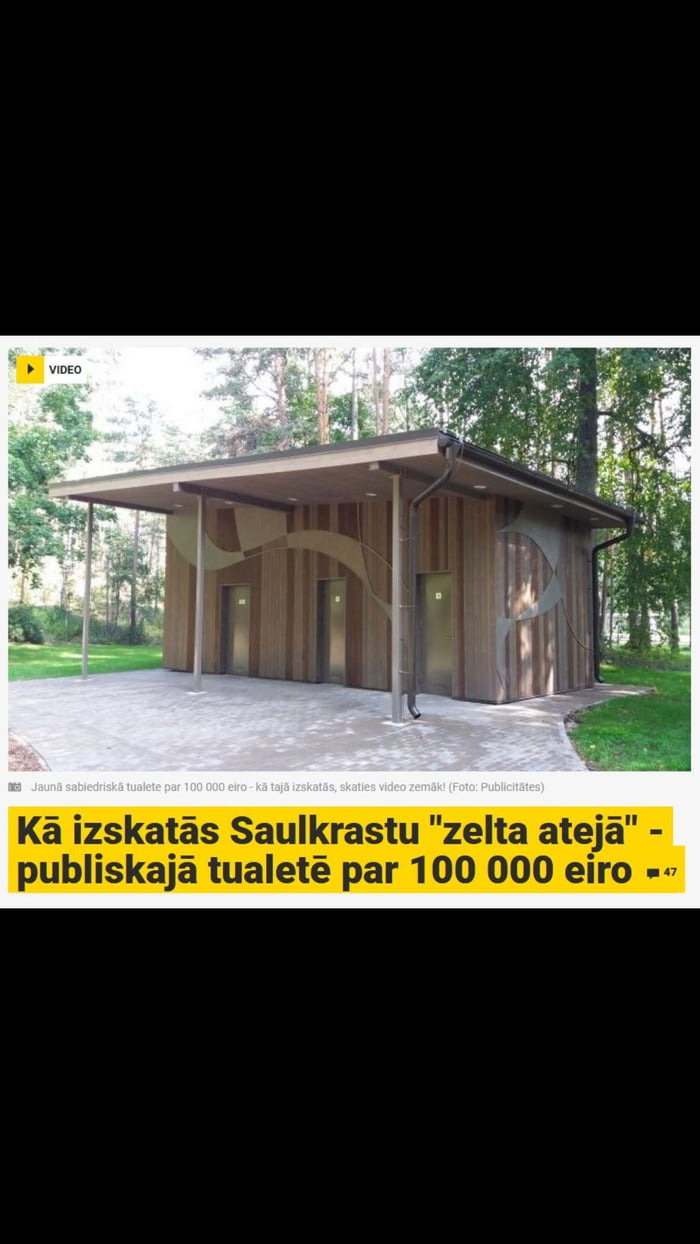 100 000 eur dump they build 100k worth toilet in my country