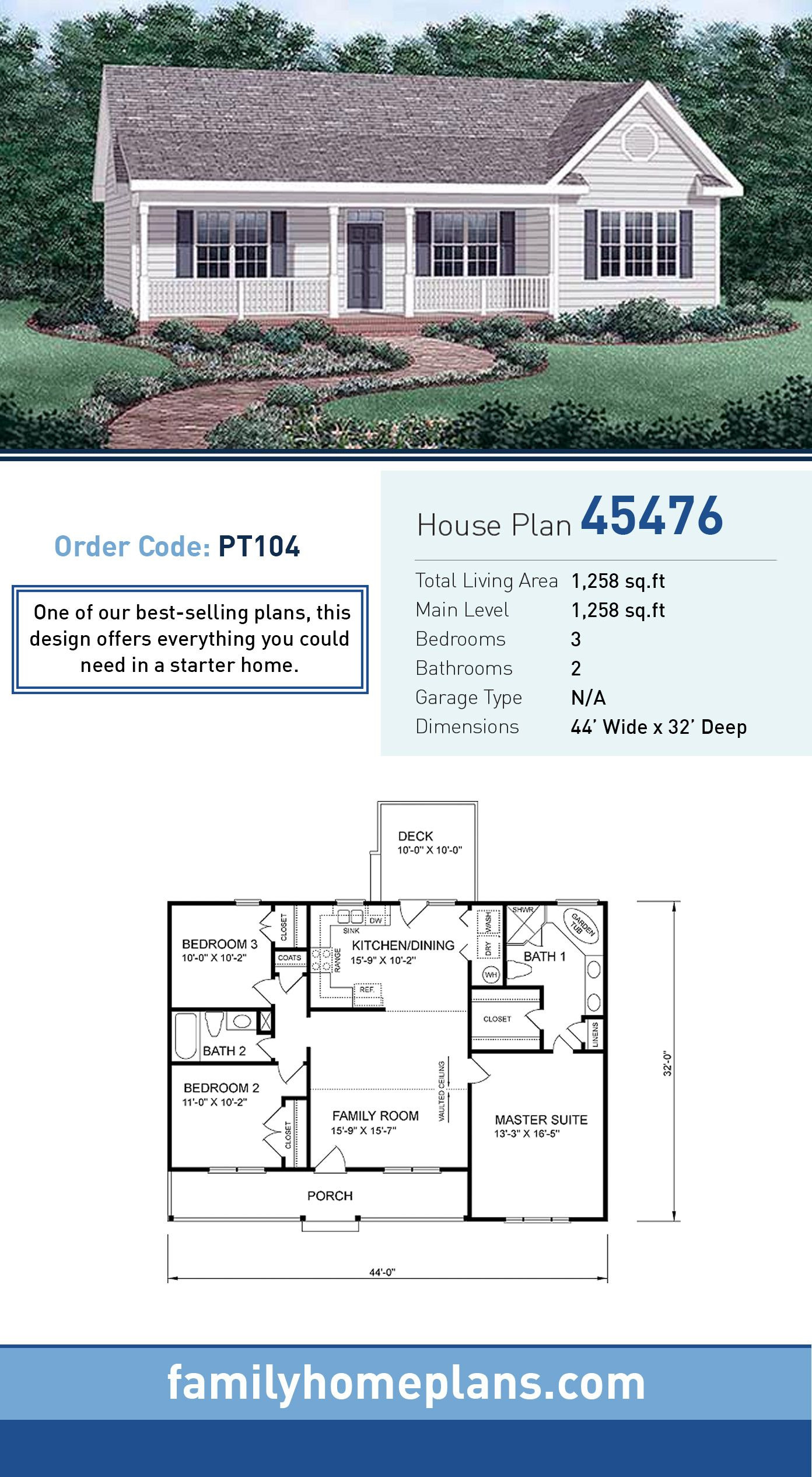 Cost Of Building A 3 Bedroom House Best Of Traditional Style House Plan with 3 Bed 2 Bath