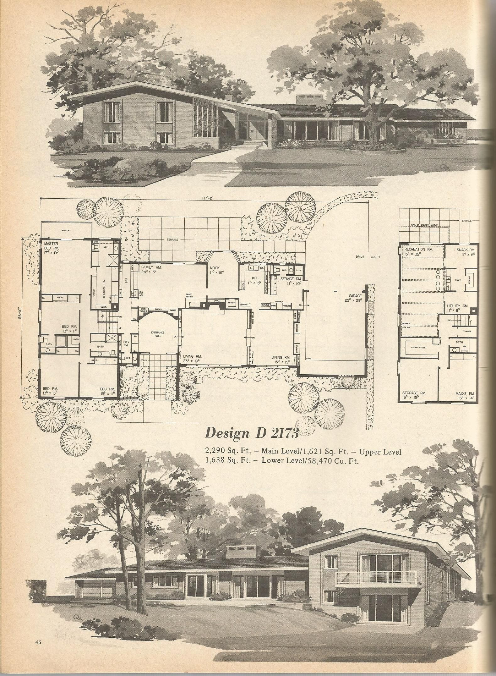 Cost to Build Mid Century Modern Home Elegant Vintage House Plans Mid Century House Plans Vintage Homes
