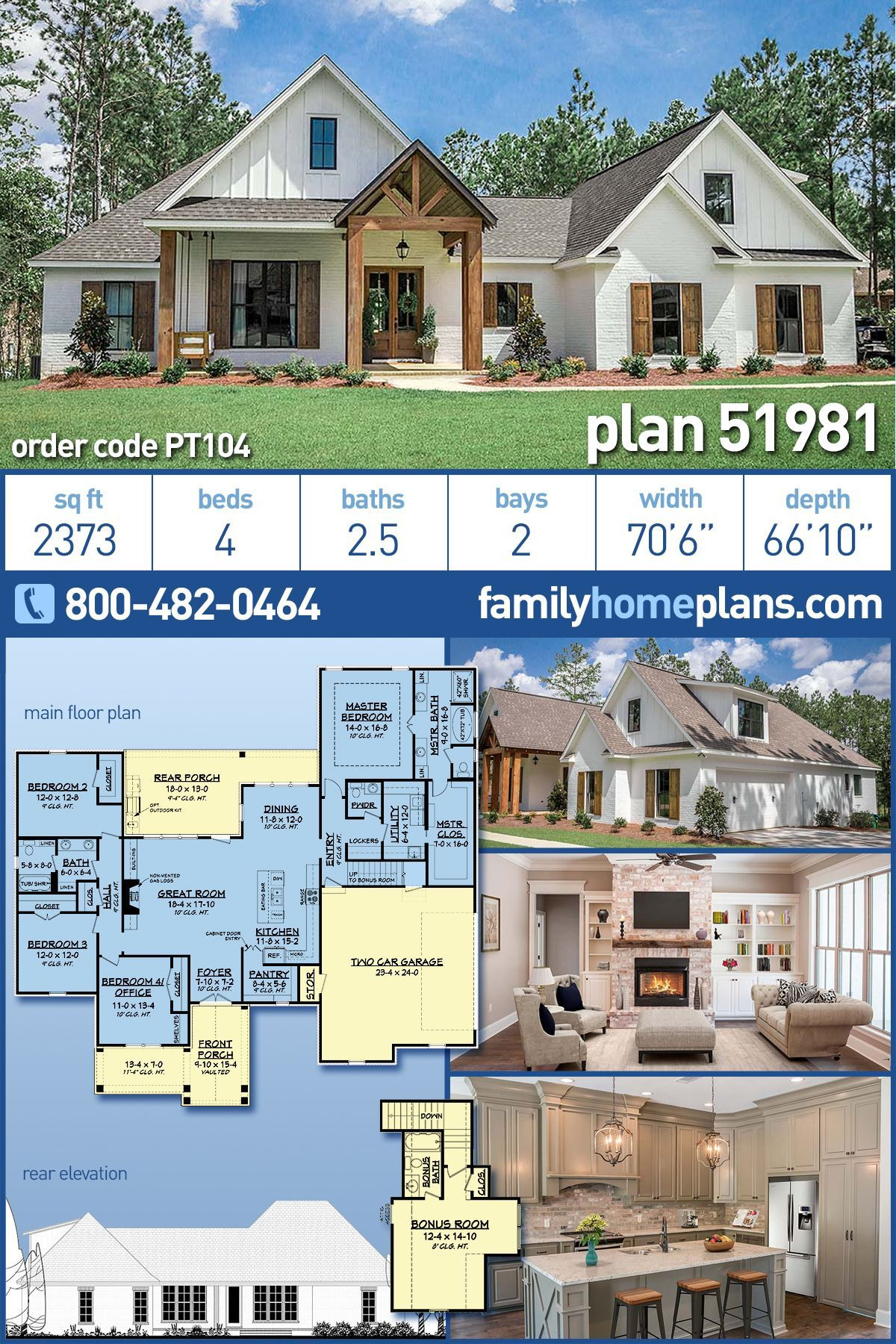 Country House Plans with Porches Elegant Modern Farmhouse Style House Plan with 4 Bed 3 Bath