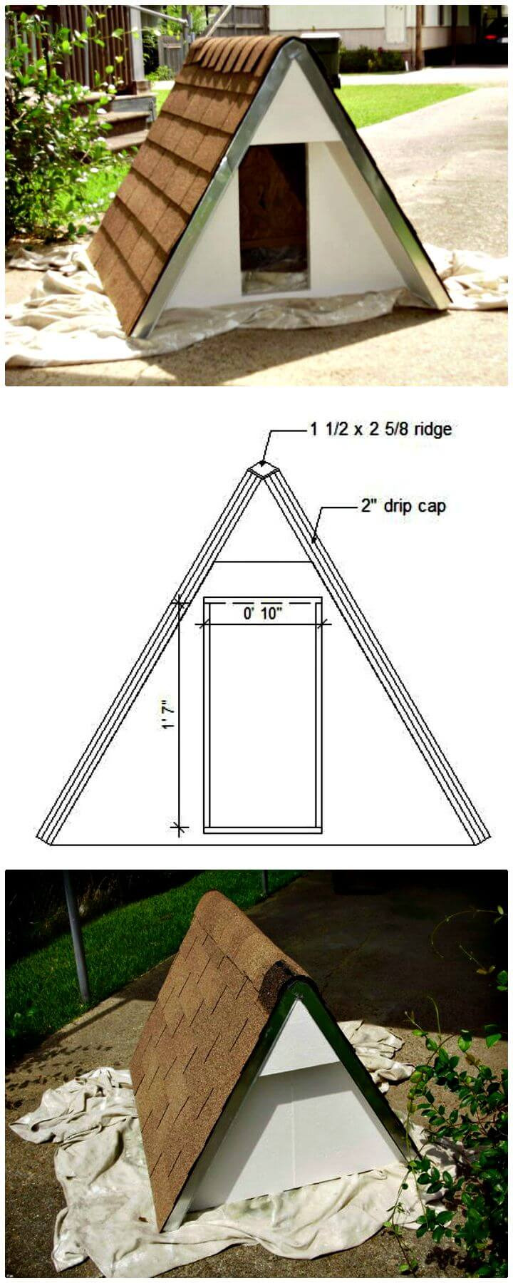 Easy Build An Insulated A frame Doghouse For Under 75 Tutorial