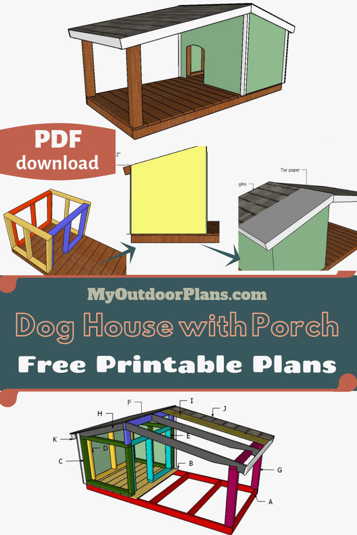 dog house blueprints pdf awesome easy to follow plans for you to build this large dog house with a front porch this dog house of dog house blueprints pdf
