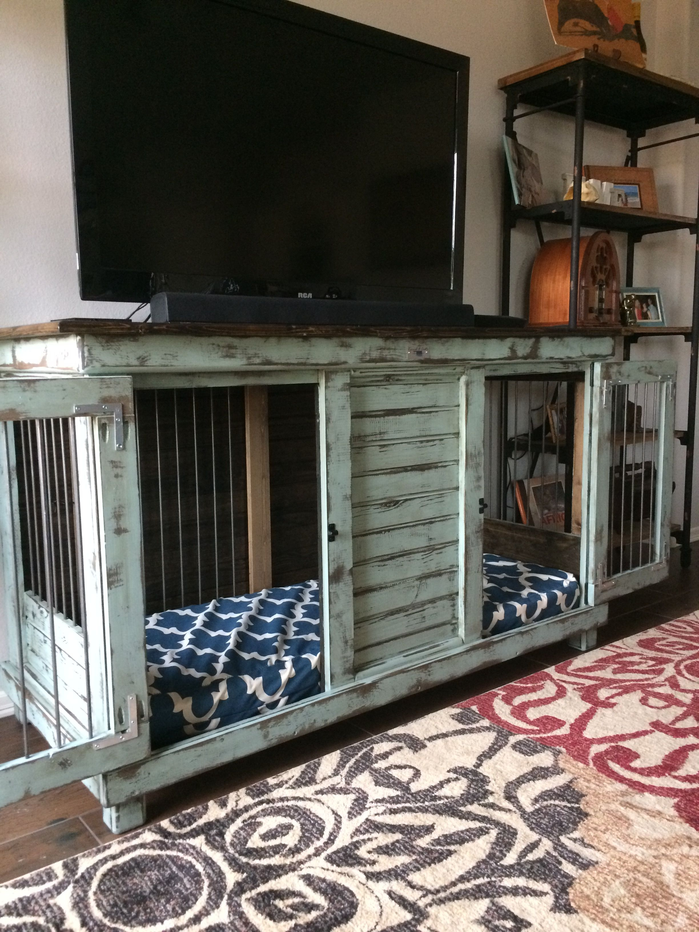 Double Dog House Plans Fresh Double Dog Kennel Perfect for An Entry Table Tv Stand