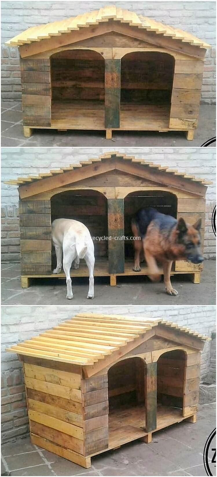 Double Dog House Plans Lovely Pallet Double Pet House