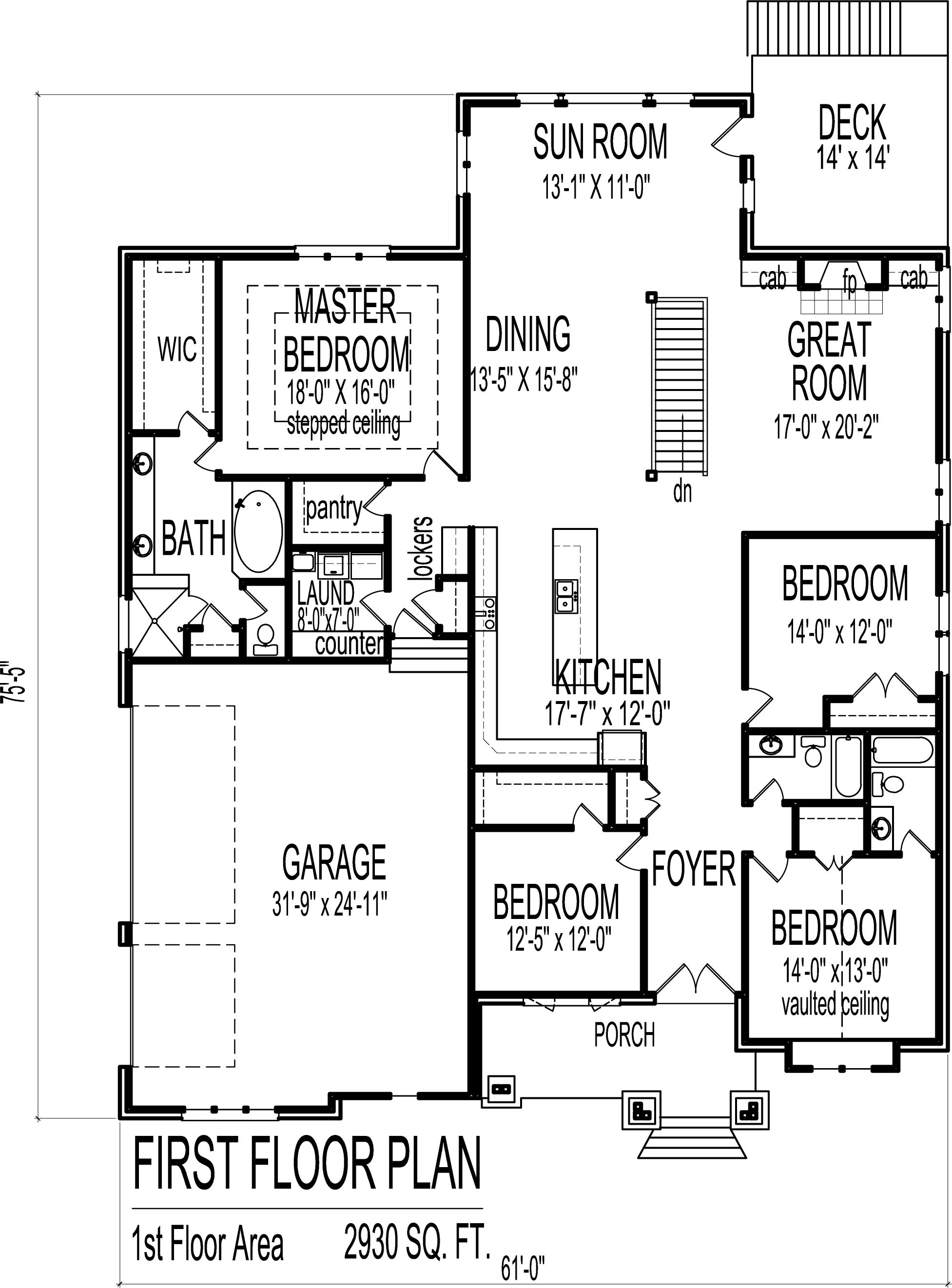 Four Bedroom House Plan Awesome 4 Bedroom Luxury Bungalow House Floor Plans Architectural