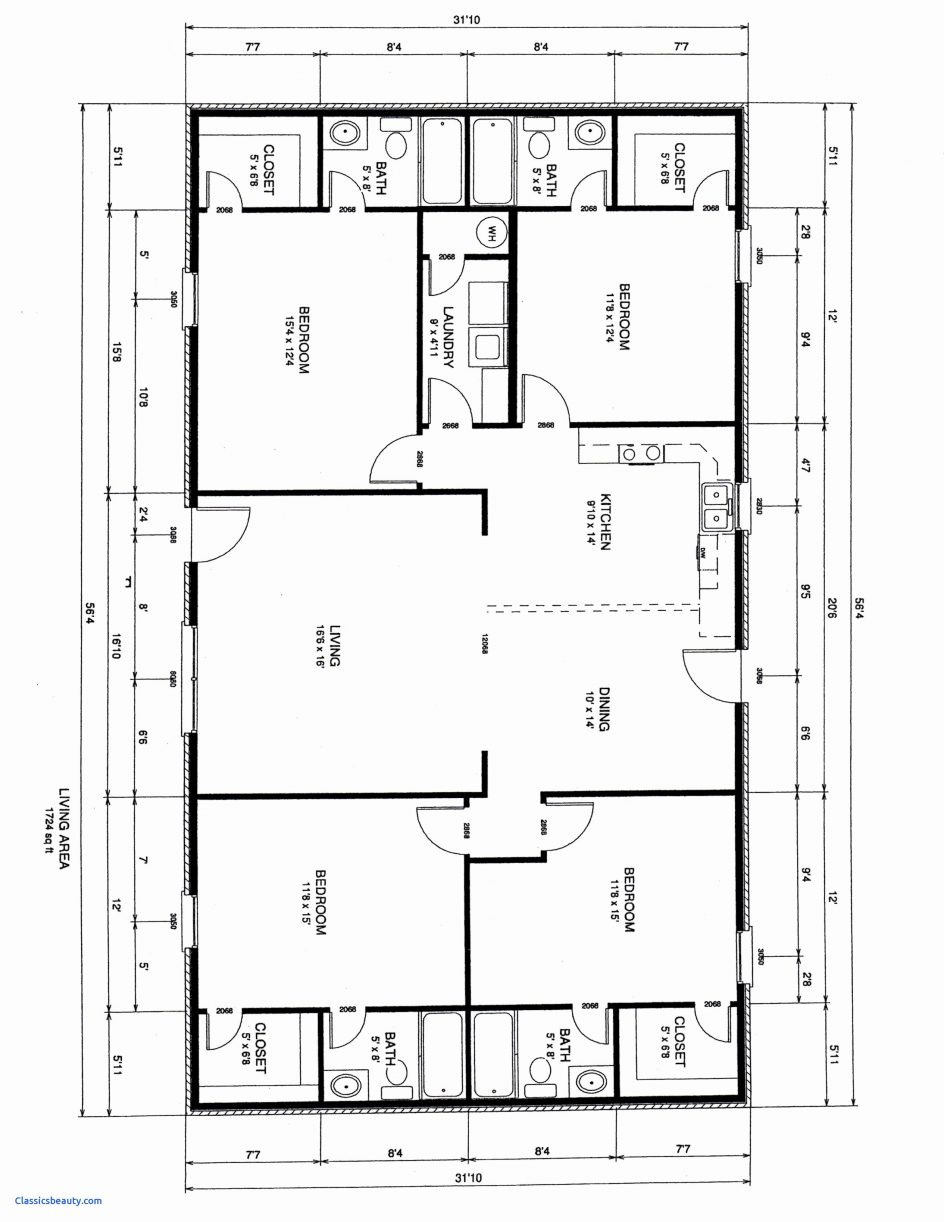 awesome simple four bedroom house plan gallery of home design amazing story