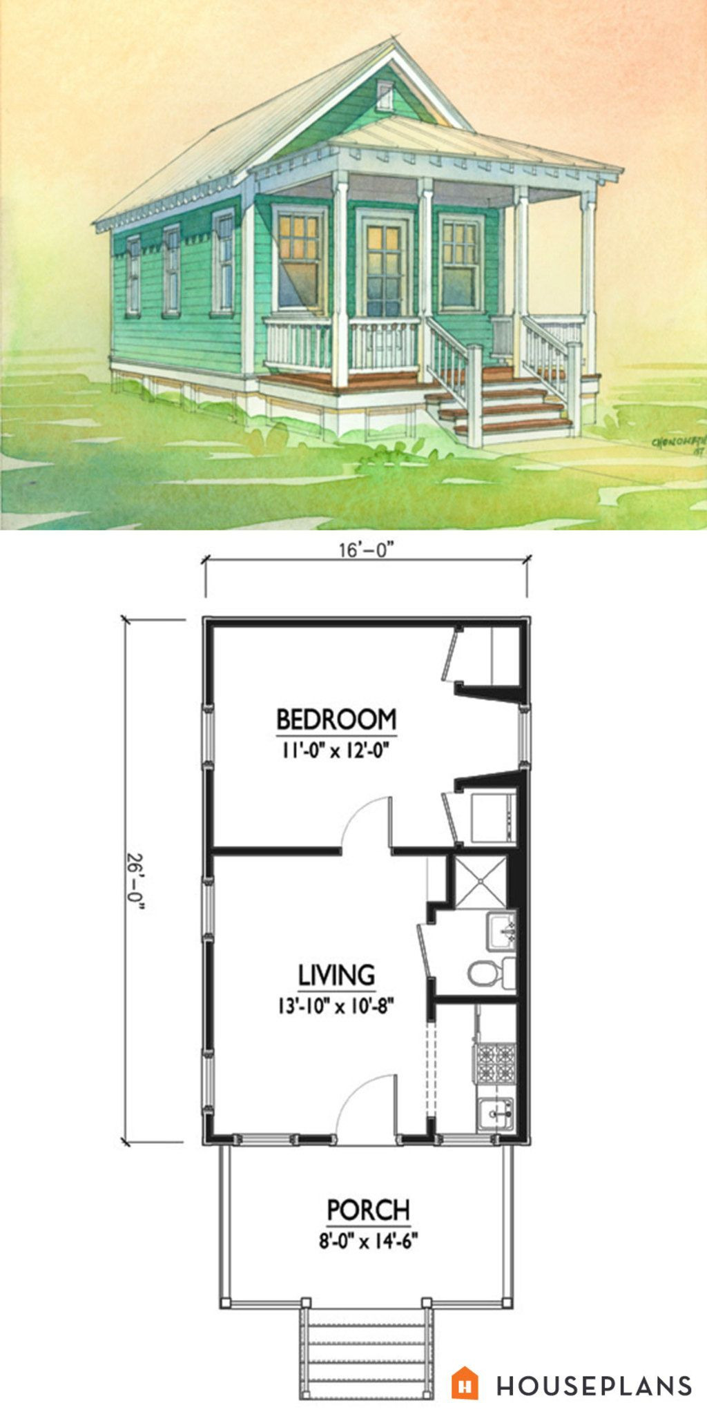 Guest House Floor Plans Awesome Cottage Style House Plan 1 Beds 1 Baths 416 Sq Ft Plan