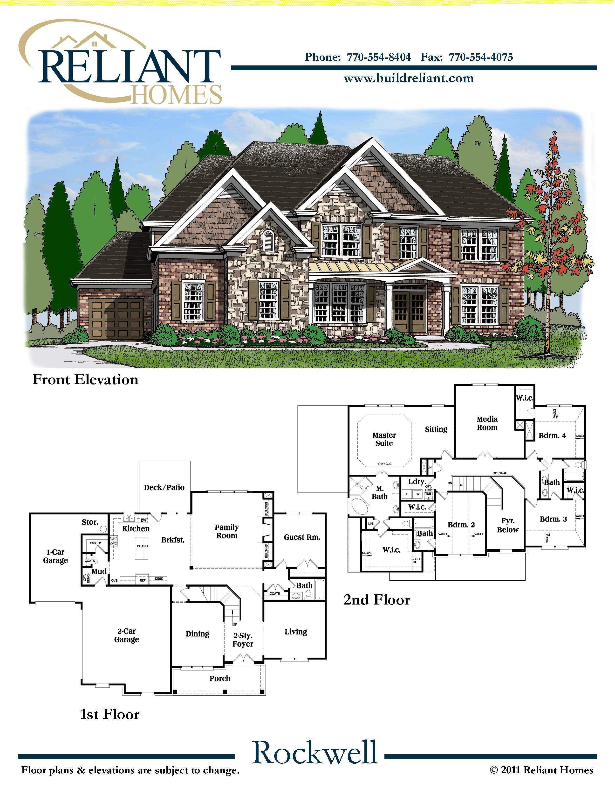 Home Plans for Sale Best Of Reliant Homes the Rockwell Plan Floor Plans