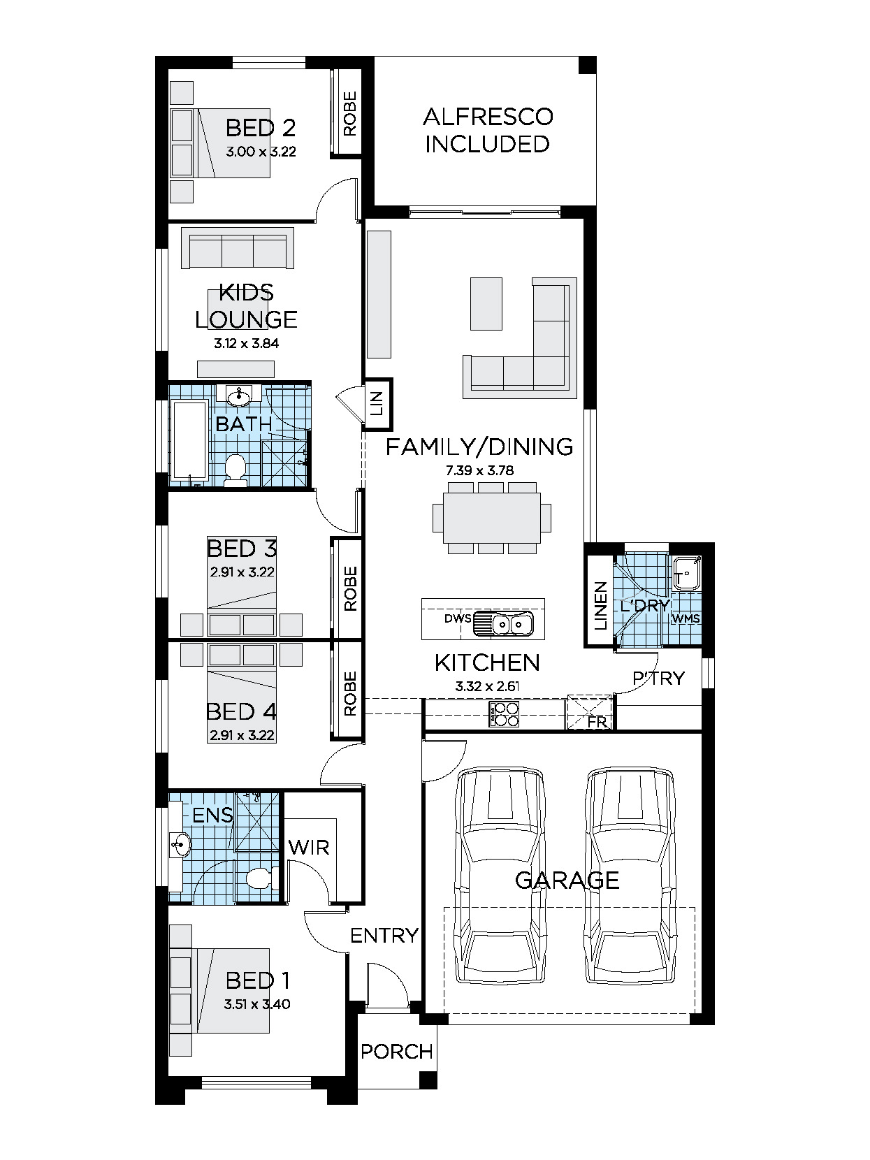 House Plans by Lot Size Best Of Sienna Home Design 4 Bedroom House Plan