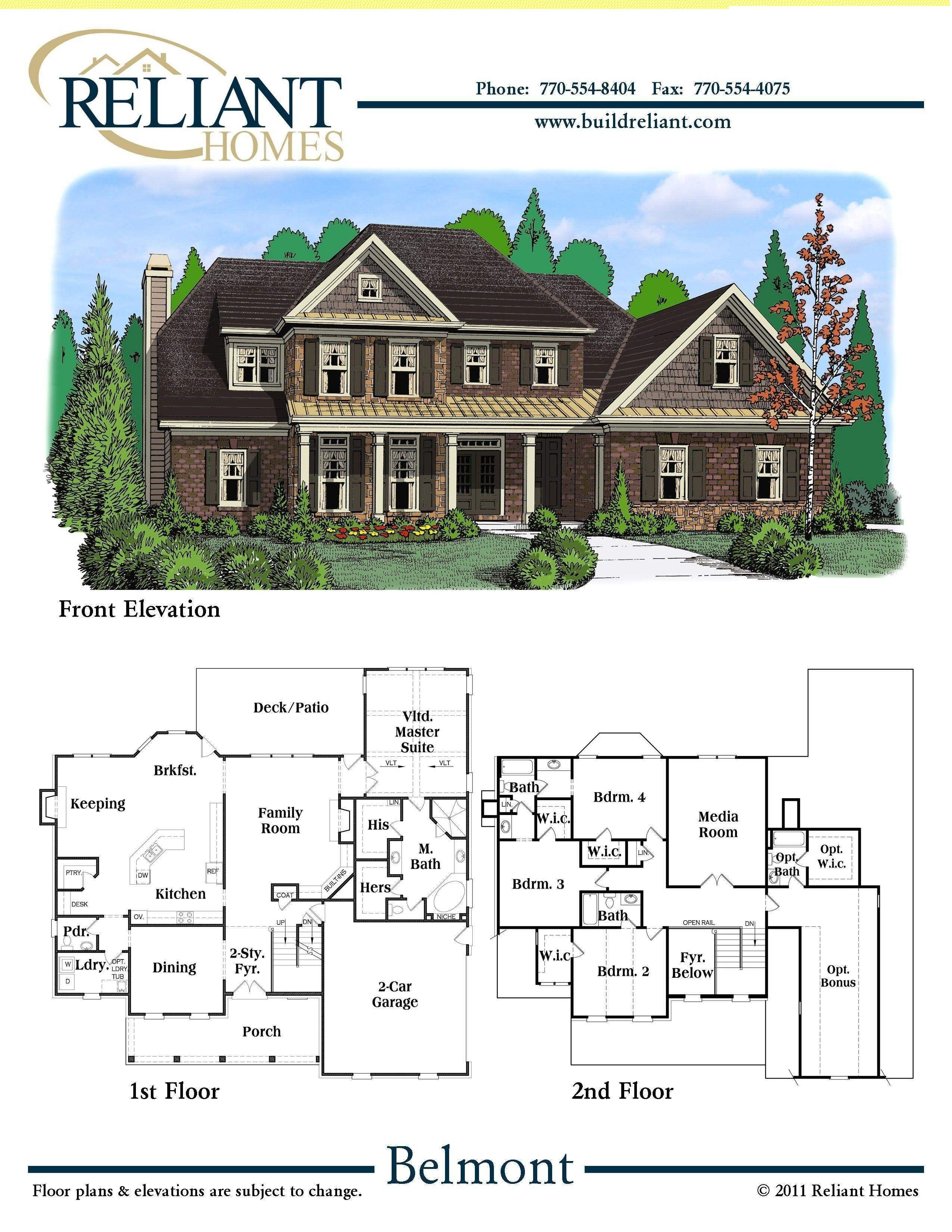 House Plans for Sale Awesome Reliant Homes the Belmont Plan Floor Plans